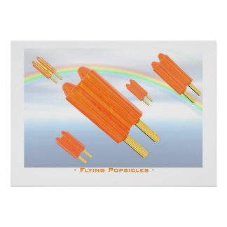 Flying popsicles poster