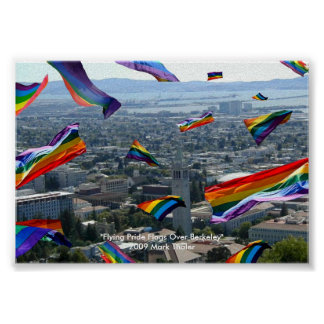 """Flying Pride Flags Over Berkeley"" Poster"