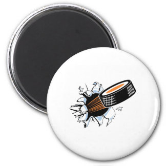 Flying Puck 2 Inch Round Magnet