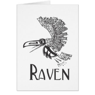 Flying Raven Card