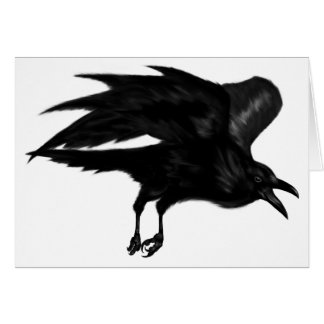 Flying Raven Note Card