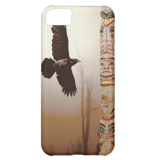 Flying Raven & Totem-Pole Fantasy Phone Case