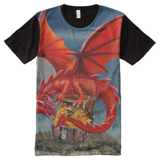 Flying Red Dragon's Treasure Chest All-Over-Print T-Shirt