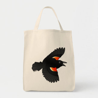 Flying Red-winged Blackbird