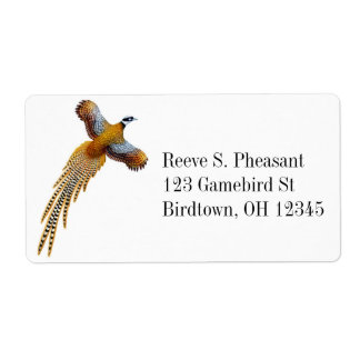 Flying Reeves Pheasant Label Shipping Label