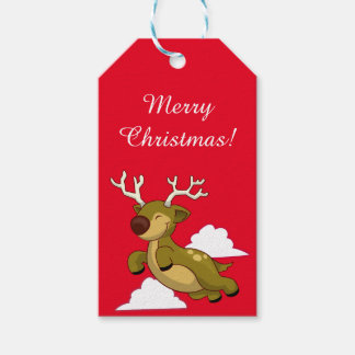 Flying Reindeer Gift Tags Pack Of Gift Tags