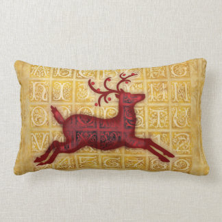 Flying Reindeer Lumbar Pillow