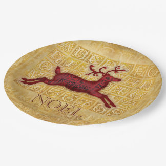 Flying Reindeer Paper Plate