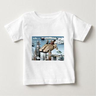 Flying Retro Future Car Baby T-Shirt