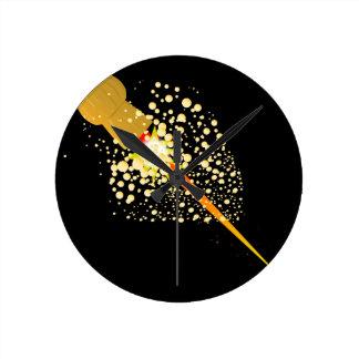 Flying Rocket Powered Cork Round Clock