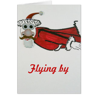 Flying Santa Card