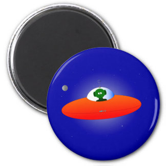 Flying Saucer 2 Inch Round Magnet