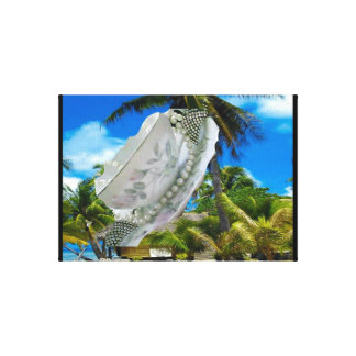Flying Saucer Island by Renee Canvas Print