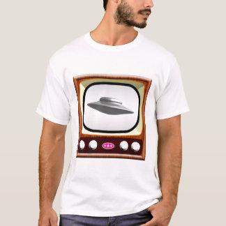 Flying Saucer on 50s TV T-Shirt