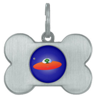 Flying Saucer Pet ID Tag