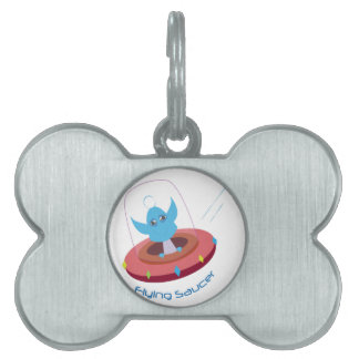 Flying Saucer Pet Name Tag