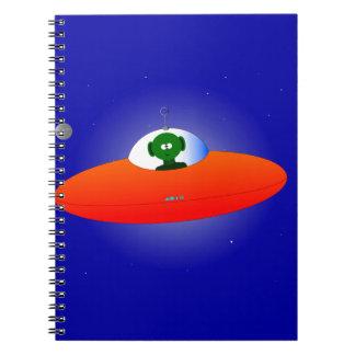 Flying Saucer Spiral Note Book
