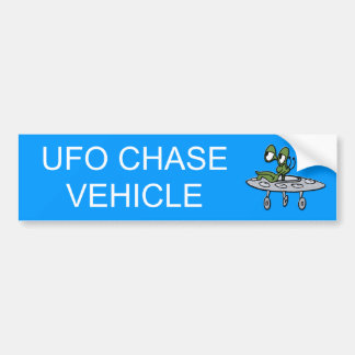 Flying Saucer - UFO - Alien Bumper Sticker