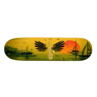 Flying Sax Skate Board Deck