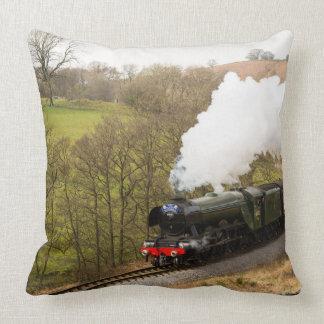 Flying Scotsman at Goathland Throw Pillow