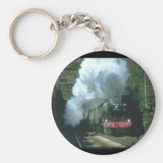 Flying Scotsman caught between_Steam Trains Keychain
