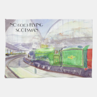 Flying Scotsman Tea Towel. Kitchen Towel