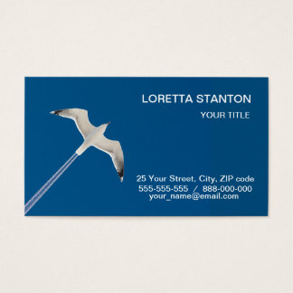 Flying seagull and the contrail business card