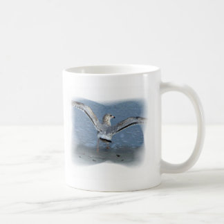 Flying seagull posterized coffee mug