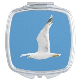 Flying seagull vanity mirrors