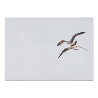 Flying seagulls card