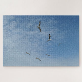 Flying Seagulls Jigsaw Puzzle