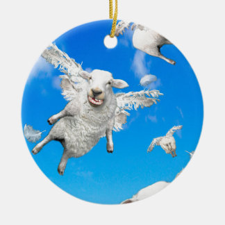 FLYING SHEEP 2 CERAMIC ORNAMENT