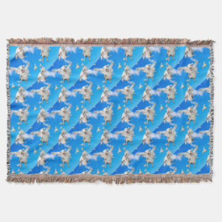 FLYING SHEEP 2 THROW BLANKET