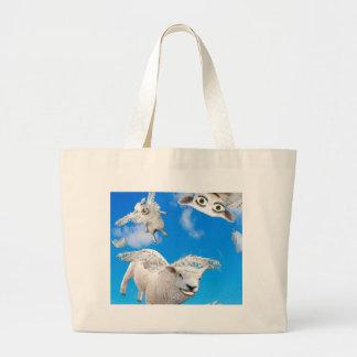 FLYING SHEEP 3 LARGE TOTE BAG