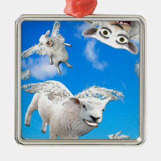 FLYING SHEEP 3 METAL ORNAMENT