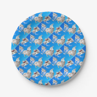 FLYING SHEEP 3 PAPER PLATE