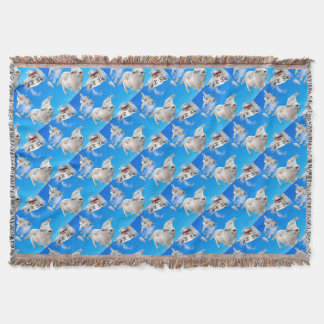 FLYING SHEEP 3 THROW BLANKET