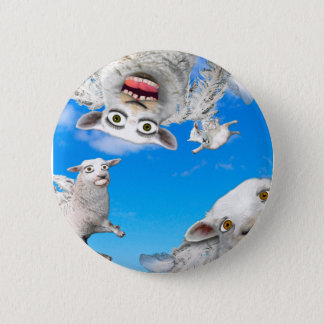 FLYING SHEEP 4 2 INCH ROUND BUTTON