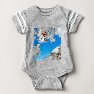 FLYING SHEEP 4 BABY BODYSUIT