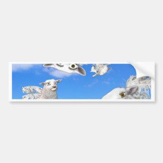 FLYING SHEEP 4 BUMPER STICKER