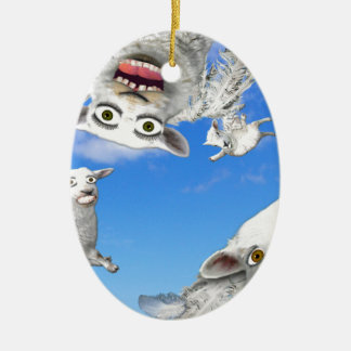 FLYING SHEEP 4 CERAMIC ORNAMENT
