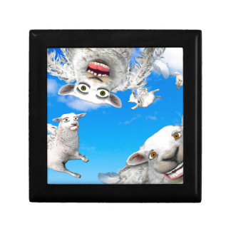 FLYING SHEEP 4 KEEPSAKE BOXES