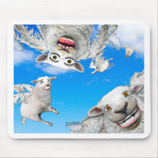 FLYING SHEEP 4 MOUSE PAD