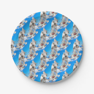 FLYING SHEEP 4 PAPER PLATE
