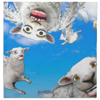 FLYING SHEEP 4 PRINTED NAPKIN