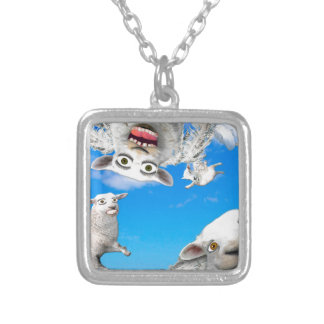 FLYING SHEEP 4 SILVER PLATED NECKLACE