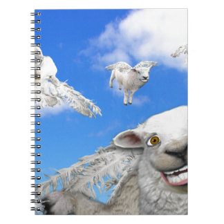 FLYING SHEEP 5 SPIRAL NOTEBOOK