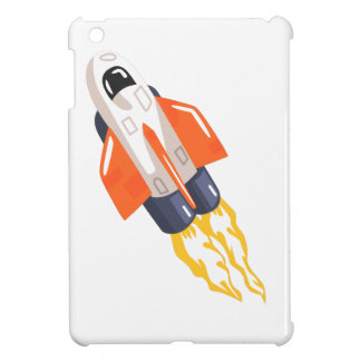 Flying Shuttle Spacecraft Fith Flames Coming From iPad Mini Cases