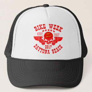 Flying Skull 76Th Daytona Beach Bike Week 2017r Trucker Hat