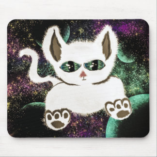 Flying Space Cat Mouse Pad